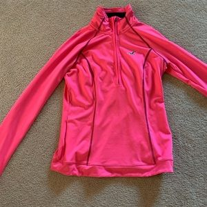 Hot pink athletic long sleeve top